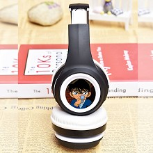 Detective conan anime wireless bluetooth headset h...