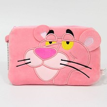 Pink Panther anime plush wallet