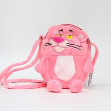 Pink Panther anime plush satchel shoulder bag