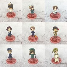 Axis powers anime figures set(9pcs a set)