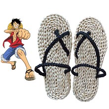 One Piece Luffy anime cosplay shoes slippers a pair