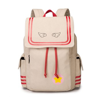 Card Captor Sakura anime canvas backpack bag