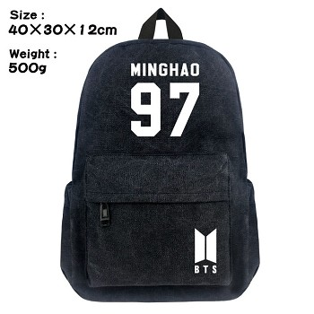 BTS-97-MINGHAO canvas backpack bag