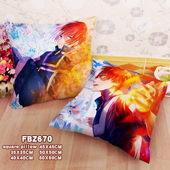 My Hero Academia anime two-sided pillow