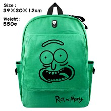Rick and Morty canvas backpack bag