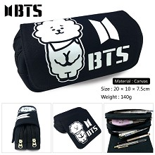 BTS canvas pen bag pencil bag