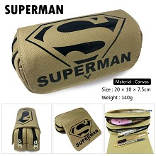 Super Man canvas pen bag pencil bag