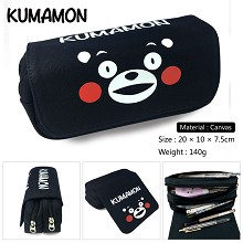 Kumamon canvas pen bag pencil bag