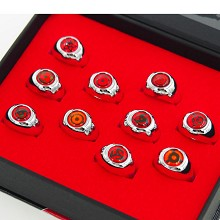 Naruto anime rings set(10pcs a set)