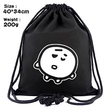 Star BTS drawstring backpack bag