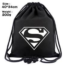 Super Man drawstring backpack bag