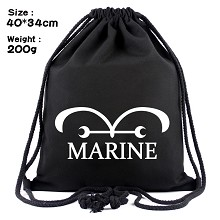 One Piece MARINE anime drawstring backpack bag