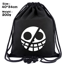One Piece Law anime drawstring backpack bag