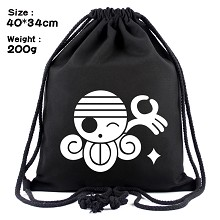 One Piece Nami anime drawstring backpack bag