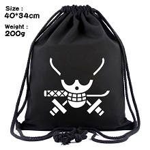 One Piece Zoro anime drawstring backpack bag