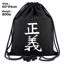 One Piece anime drawstring backpack bag