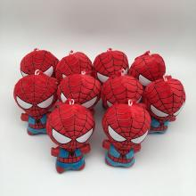 4inches Spider Man plush dolls set(10pcs a set)