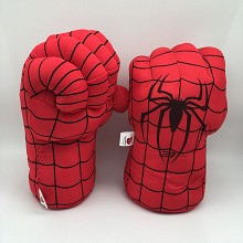 12inches Spider man plush gloves a pair