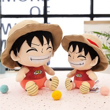 12inches One Piece Luffy anime plush doll