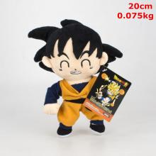 8inches Dragon Ball Goku anime plush dolls set(10pcs a set)