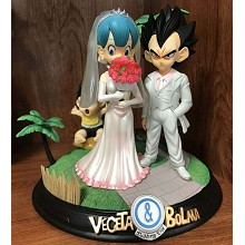 Dragon Ball Vegeta and Bulma wedding anime figures a set