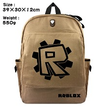 ROBLOX canvas backpack bag