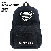 Super Man canvas backpack bag