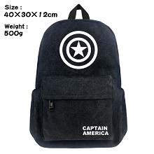 Captain America canvas backpack bag