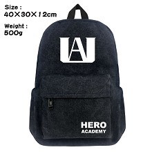 My Hero Academia anime canvas backpack bag