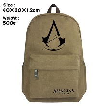 Assassin's Creed canvas backpack bag