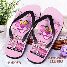 Pink Panther flip-flops shoes slippers a pair