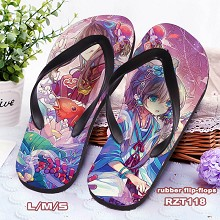 Luo Tianyi anime flip-flops shoes slippers a pair