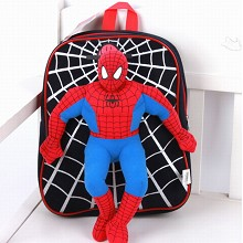 Spider Man children plush backpack school bag