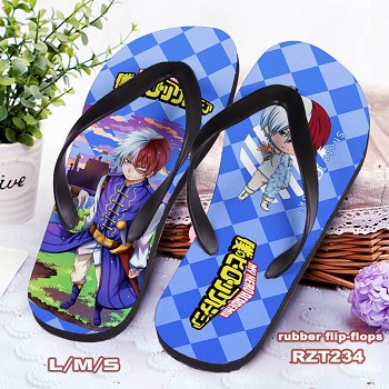 My Hero Academia anime flip-flops shoes slippers a pair