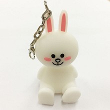 Rabbit key chain Mobile phone bracket
