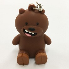Bear Brown key chain Mobile phone bracket