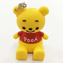 Winnie the Pooh key chain Mobile phone bracket