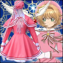 Card Captor Sakura anime cosplay costume cloth dress a set