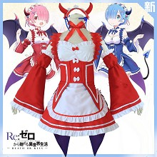 Re:Life in a different world from zero cosplay costume cloth dress a set