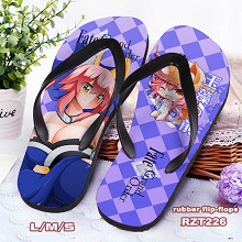 Fate grand order anime flip-flops shoes slippers a pair