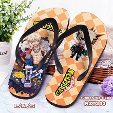 My Hero Academia anime flip-flops shoes slippers a...