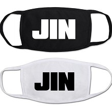 Star BTS JIN masks set(2pcs a set)