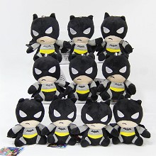 4inches Batman plush dolls set(10pcs a set)