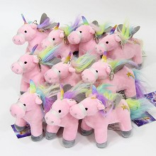 4inches Unicorn plush dolls set(10pcs a set)