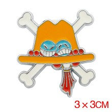 One Piece Ace anime brooch pin