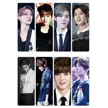 EXO LU HAN pvc bookmarks set(5set)