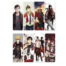China glory anime pvc bookmarks set(5set)
