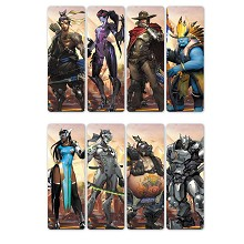 Overwatch pvc bookmarks set(5set)