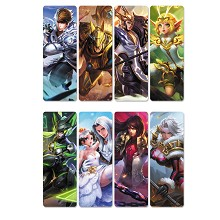 Hero Moba pvc bookmarks set(5set)