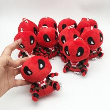4.4inches Deadpool anime plush dolls set(10pcs a set)